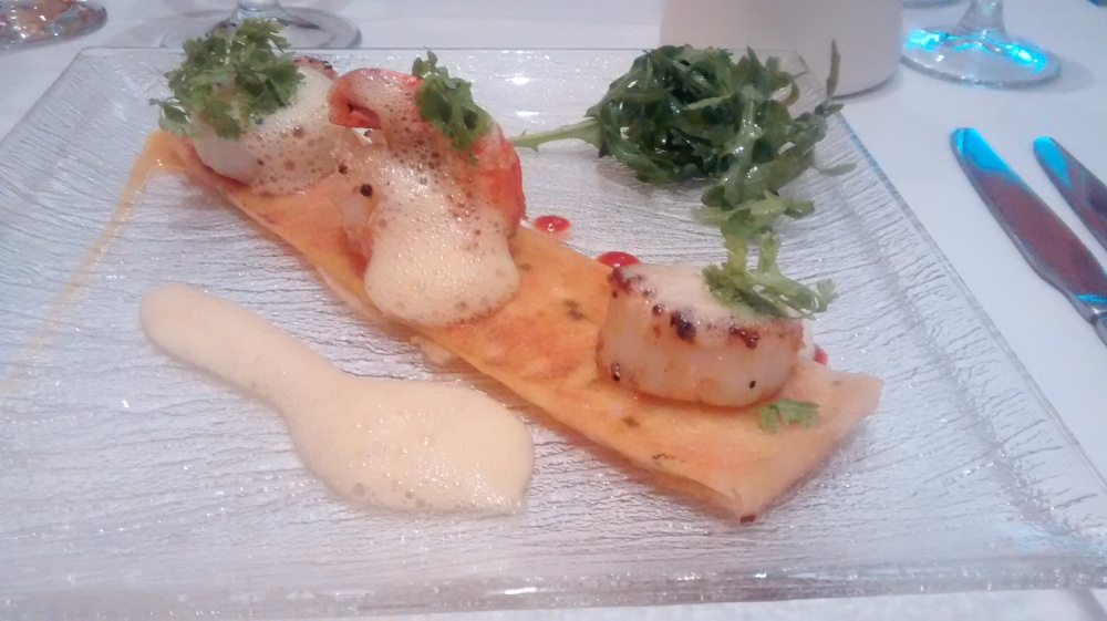 Prawns and cod on Corsican cheese.jpg